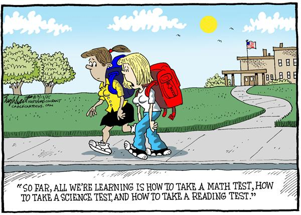 Bob Englehart - The Hartford Courant - 2005 School Year Color - English - education school public schools children kids