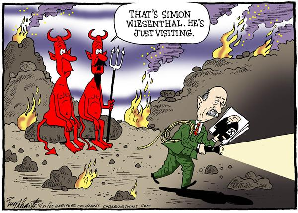 Bob Englehart - The Hartford Courant - Simon Weisenthal - English - nazi hunter jewish germany