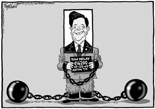 Bob Englehart - The Hartford Courant - El sonriente Tom - English - Tom DeLay, acusacion, financiamiento, Campaña, Republicana, Congreso, Texas