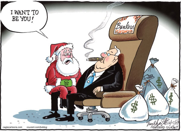 72379 600 Santa and the Banker cartoons