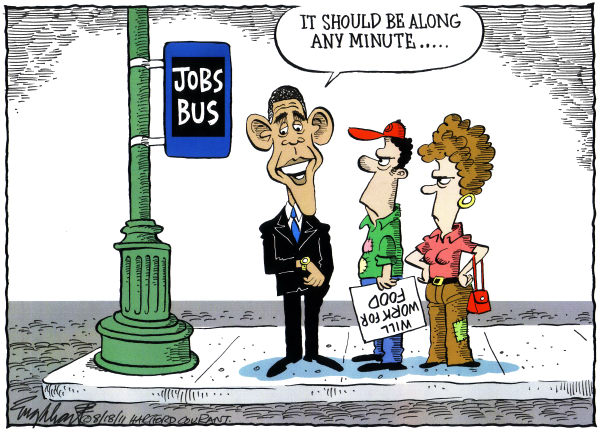 Unemployment © Bob Englehart,The Hartford Courant,
