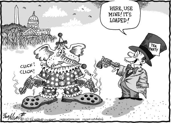 Bob Englehart - The Hartford Courant - Republicans Top Themselves - English - gop, washington, congress, tea party