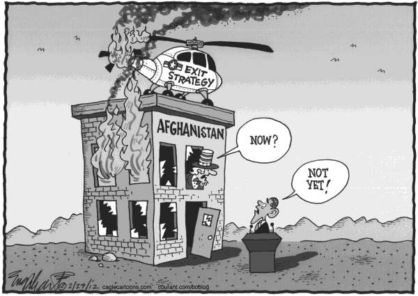 Bob Englehart - The Hartford Courant - Afghanistan Burning - English -