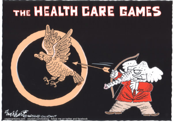 Bob Englehart - The Hartford Courant - Obamacare - English - health care reform,supreme court,obamacare,scotus