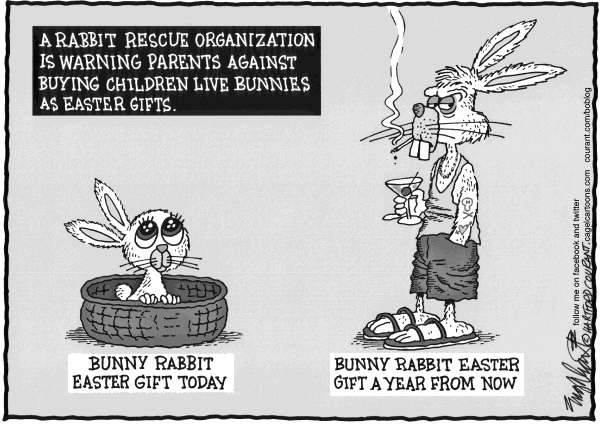 Bob Englehart - The Hartford Courant - Easter - English - Easter, bunny, rabbit