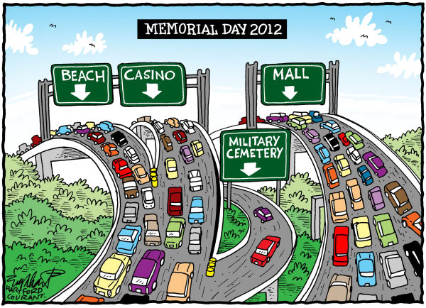 Bob Englehart - The Hartford Courant - Memrial Day - English -