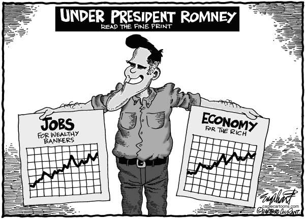 Bob Englehart - The Hartford Courant - President Mitt Romney - English -