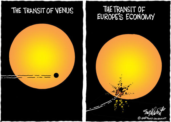 Bob Englehart - The Hartford Courant - The Transit of Venus - English - sun,galaxy,planets,universe,orbit