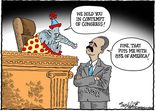 Bob Englehart - The Hartford Courant - Eric Holder - English - attorney general of the united states, contempt of congress,