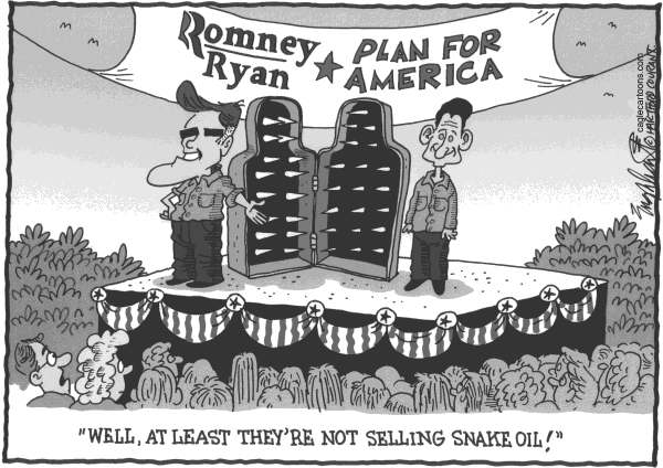 Bob Englehart - The Hartford Courant - Romney Ryan Ruination - English -
