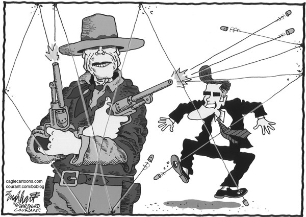 Bob Englehart - The Hartford Courant - Clint Eastwood - Spanish - GOP,Republicanos,Conservadores,Convencion,Nacional,Republicana,CNR,Clint,Eastwood,silla,vacia,clint-eastwood