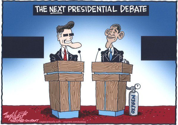 Bob Englehart - The Hartford Courant - The Next Presidential Debate - English -