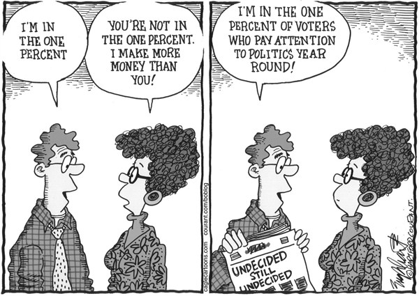 Bob Englehart - The Hartford Courant - The One Percent - English - voting,voters,electorate