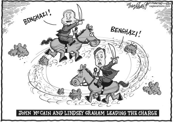 Bob Englehart - The Hartford Courant - John McCain and Lindsey Graham - English - benghazilibya