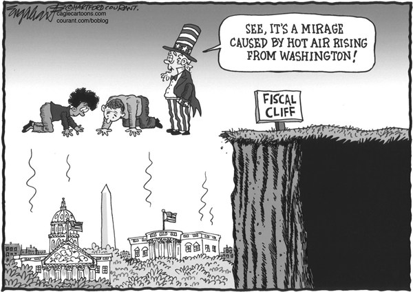 Bob Englehart - The Hartford Courant - Fantasy Land - English - fiscal cliff, tea party,congress
