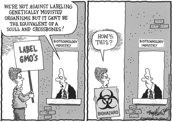 Bob Englehart - The Hartford Courant - Biotechnology - English - gmo,genetically modified organisms,biotech