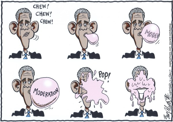 Bob Englehart - The Hartford Courant - Obama's 2nd Term - English -