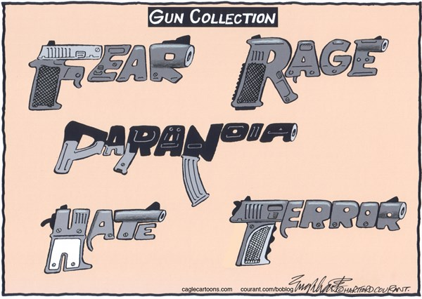 Bob Englehart - The Hartford Courant - Guns and Rifles COLOR - English -