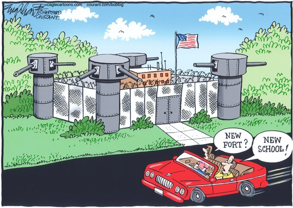 Bob Englehart - The Hartford Courant - Security COLOR - English -