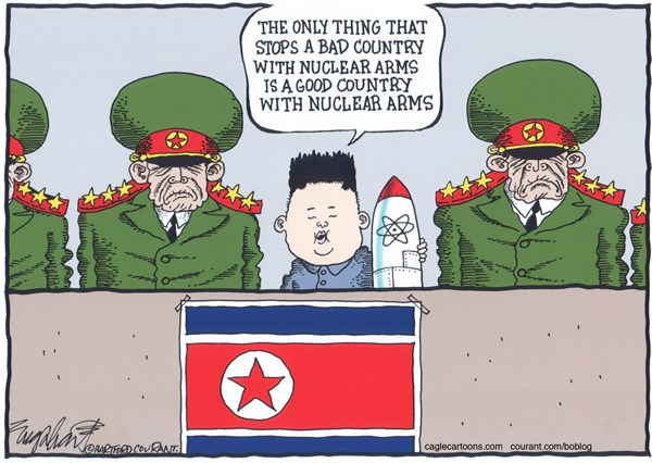 Bob Englehart - The Hartford Courant - North Korea's Kim Jong Un COLOR - English -