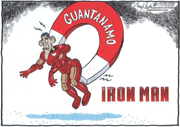 Bob Englehart - The Hartford Courant - Guantanamo / COLOR - English - Barack,Obama,presidente,USA,Cuba,Guantanamo,Gitmo,Terror,terrorismo,prision