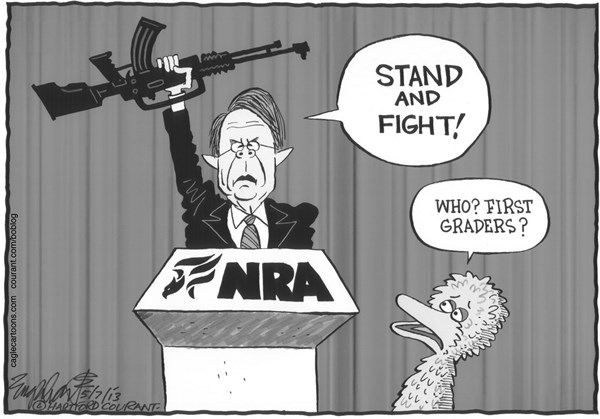 Bob Englehart - The Hartford Courant - NRA - English - national rifle association convention
