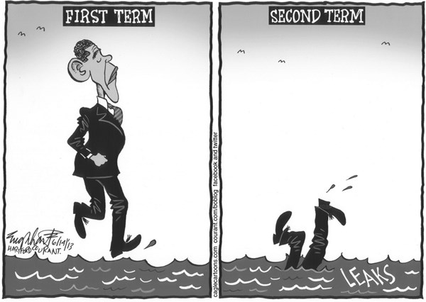 Bob Englehart - The Hartford Courant - Obama's Second Term - English -