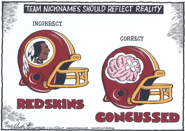 Bob Englehart - The Hartford Courant - Washington RedskinsCOLOR - English - football,helmets