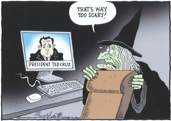 Bob Englehart - The Hartford Courant - HalloweenCOLOR - English - ted cruz,halloween,witches
