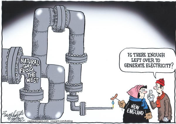 Bob Englehart - The Hartford Courant - New England Natural GasCOLOR - English - new England, natural gas, electric rates