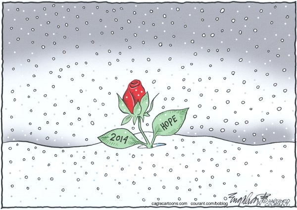 Bob Englehart - The Hartford Courant - New Year's DayCOLOR - English - new years day,happy new year