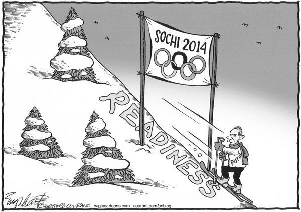 Bob Englehart - The Hartford Courant - Winter Olympics - English - sochi,russia,winter olympics,putin
