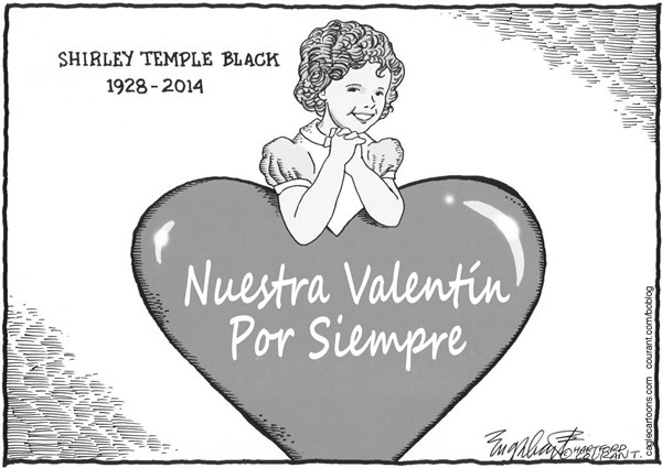 Bob Englehart - The Hartford Courant - Shirley Temple Black - Spanish - In,Memoriam,Shirley,Temple,Black,estrella,cine,peliculas,actriz,infantil,lollipop