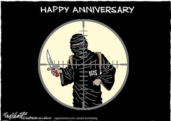 9 11 Anniversary © Bob Englehart,The Hartford Courant,9-11 anniversary,Sept 11 2001,isis,isil,Islamic State,middle east,terrorism,world trade center,pentagon,terrorist attack,Shanksville