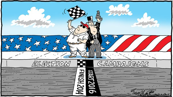 Election Day Nov 4 © Bob Englehart,The Hartford Courant,election, nov 4, tuesday,vote, get out the vote