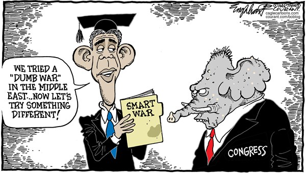 Obama War Powers © Bob Englehart,The Hartford Courant,congress,war powers, senate,house of representatives,war,middle east,