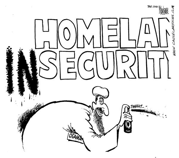 7836 600 Homeland Insecurity cartoons
