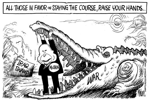 49738 600 McCain Stays the Course cartoons