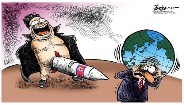 Manny Francisco - Manila, The Phillippines - kim jung il flashing - English - kim jung il north korea missile testing