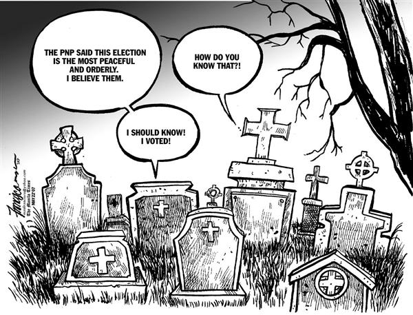 Manny Francisco - Manila, The Phillippines - Dead vote - English - philippines, elections, philippine elections, philippine politics, election cheating