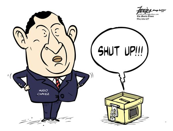 Manny Francisco - Manila, The Phillippines - Shut up - English - hugo chaves, argentina referendum, argentina