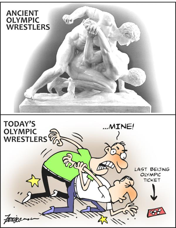 Manny Francisco - Manila, The Phillippines - wrestling for olympic tickets - English - beijing olympics, olympics, wrestling, tickets, sports