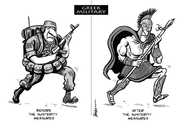 Manny Francisco - The Singapore Straits Times - The Greek Army - English - Greece, austerity measures, financial crisis