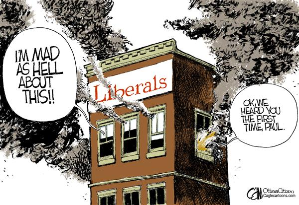 Cardow - The Ottawa Citizen - CANADA Liberal Fire - English - CANADA Sponsorship Program scandal Paul Martin Auditor General report Liberals COLOR