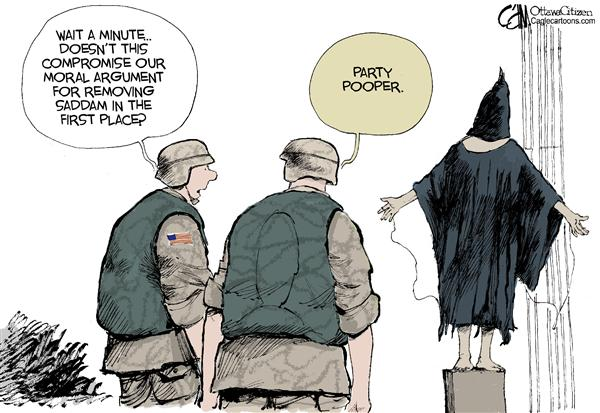 Cardow - The Ottawa Citizen - US Torture COLOR - English - US war Iraq troops torture COLOR