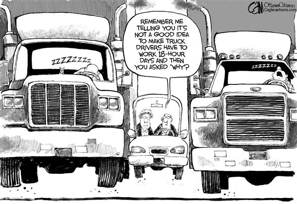 Cardow - The Ottawa Citizen - CANADA Truckers - English - CANADA truckers trucking transport Ministry  Transportation