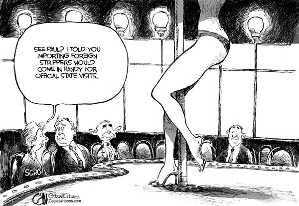 Cardow - The Ottawa Citizen - CANADA Imported Strippers - English - CANADA Bush visit strippergate Judy Sgro