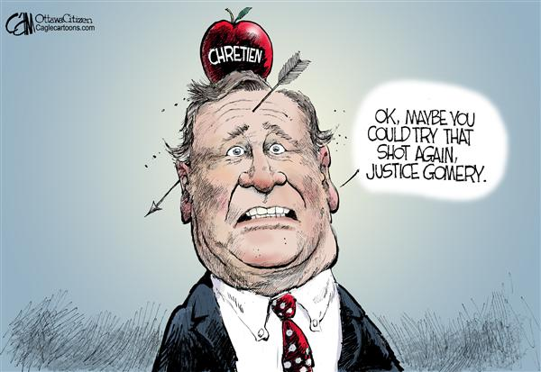 Cardow - The Ottawa Citizen - CANADA Missed Target COLOR - English - CANADA Paul Martin Gomery Inquiry Liberals