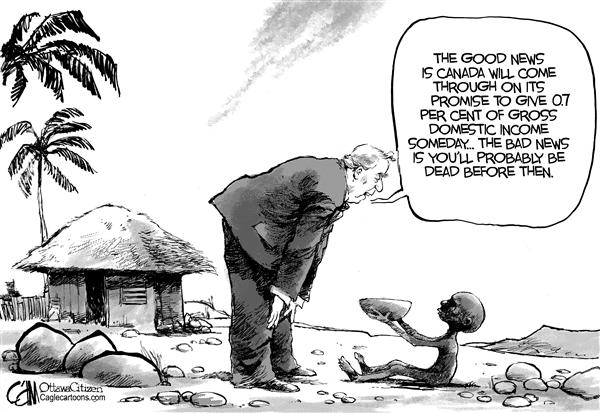 Cardow - The Ottawa Citizen - CANADA Promised Aid - English - CANADA Paul Martin Africa debt relief aid 07