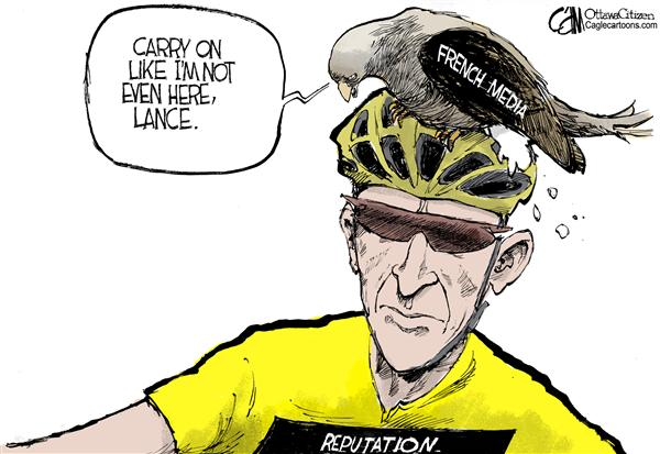 Cardow - The Ottawa Citizen - Armsrong COLOR - English - Lance Armstrong Tour de France drugs steroids